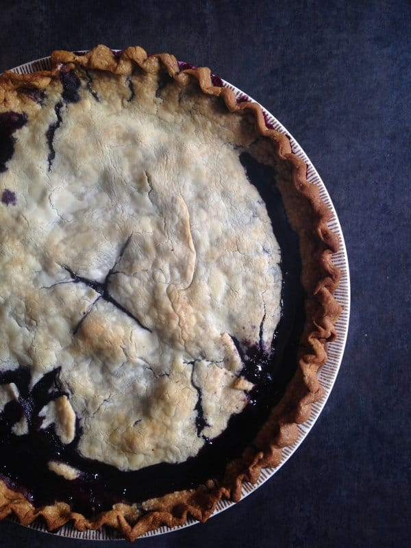 Chocolate Blueberry Pie - Wicked Spatula
