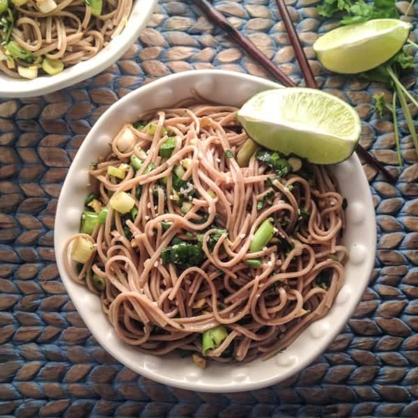 Soy Ginger Soba Noodles - Wicked Spatula