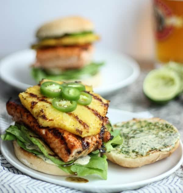 Tropical Salmon Burger