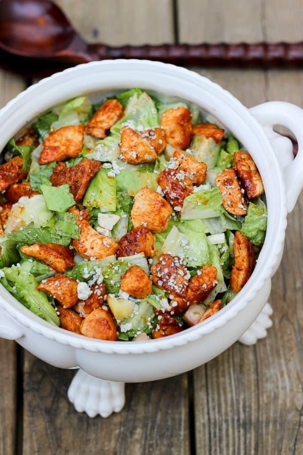 Buffalo Chicken Caesar Salad | Wicked Spatula