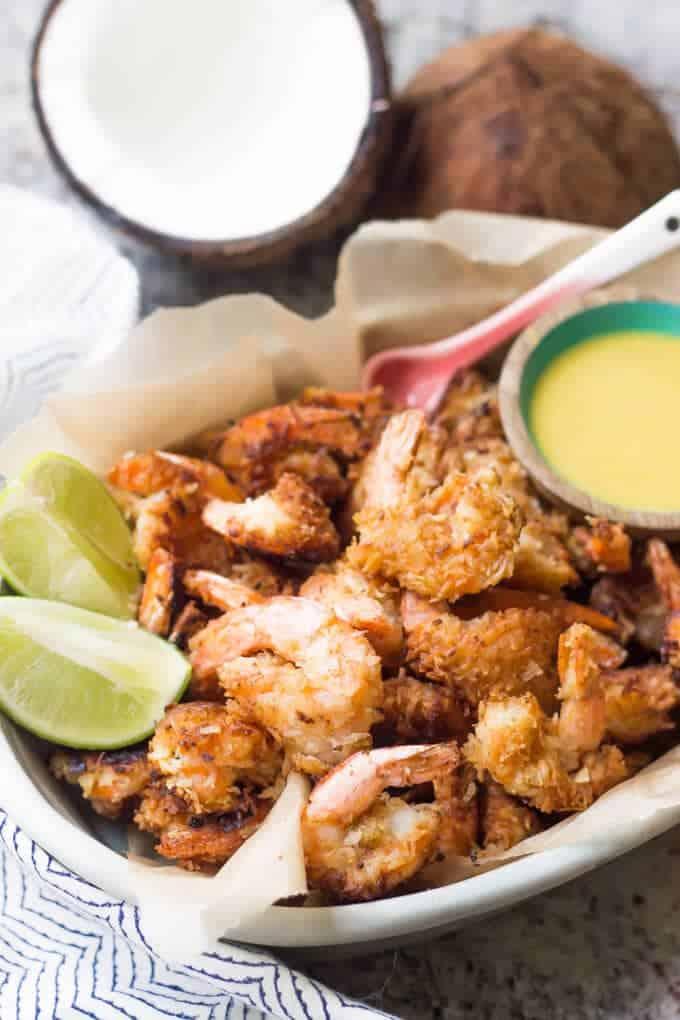Paleo Coconut Shrimp - SO easy and absolutely delicious! | wickedspatula.com