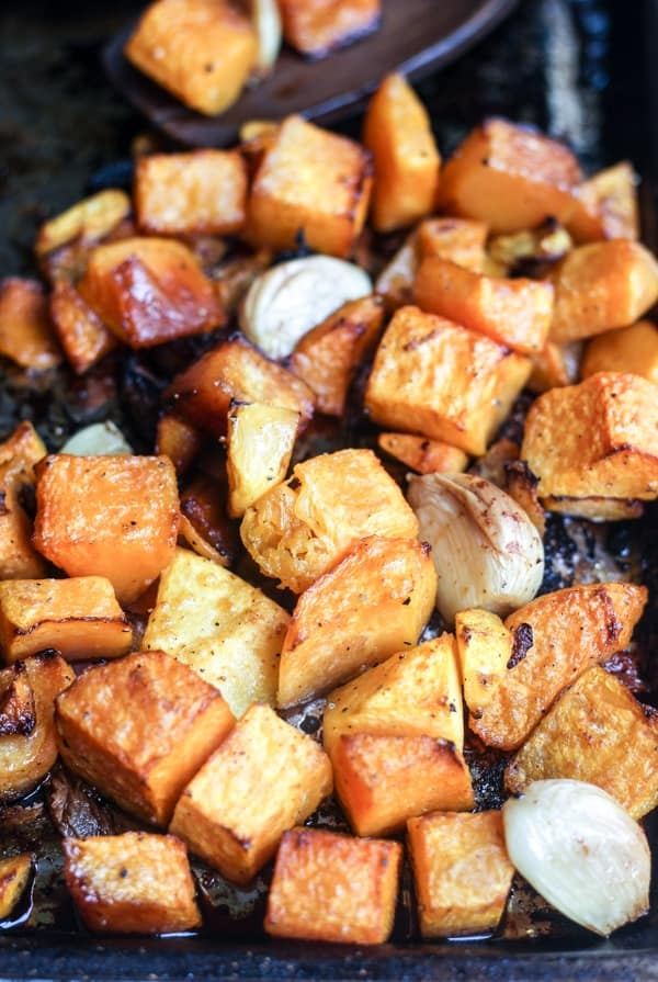 Garlic Roasted Butternut Squash | Wicked Spatula