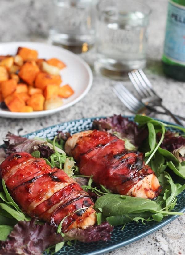 Honey Glazed Prosciutto Wrapped Chicken | Wicked Spatula