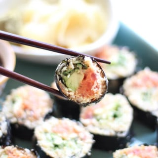 "Cauliflower ""Rice"" Spicy Tuna Rolls"