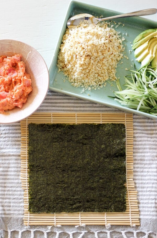 Paleo Cauliflower Rice Sushi Rolls Recipe (Spicy Tuna) - Seasonings For Sushi Rolls