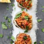 chorizo and clams on slate board