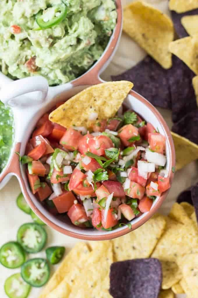 Homemade Easy Pico de Gallo Recipe - Pico de Gallo in bowl