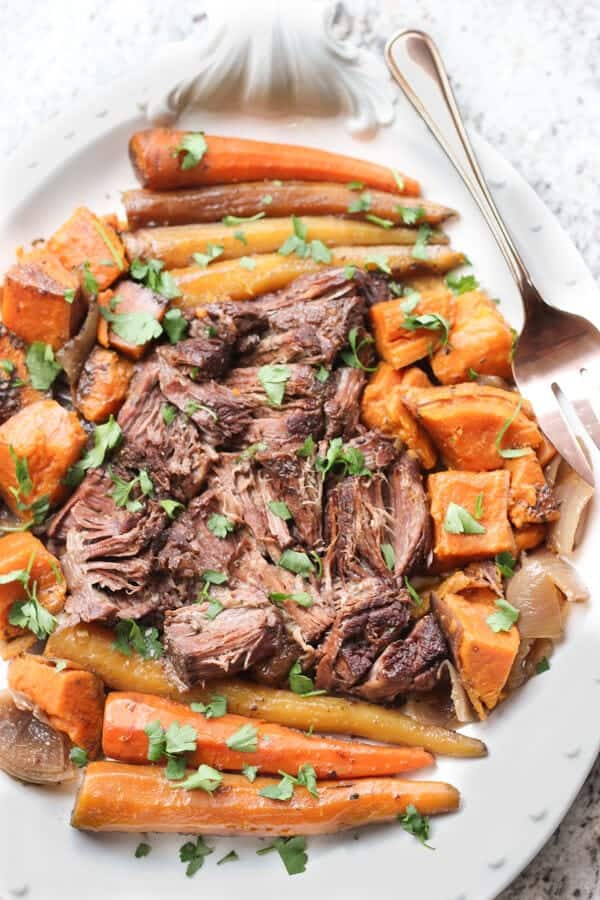 Slow Cooker Pot Roast | https://www.wickedspatula.com
