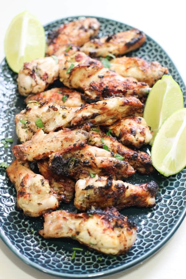Grilled Cilantro Lime Wings with