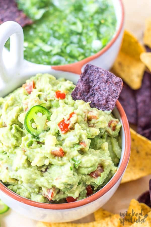 Close-up photo of easy guacamole