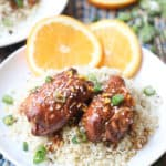 2 crock pot orange chicken thighs