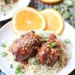 2 crock pot orange chicken thighs