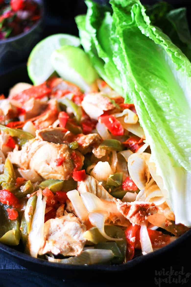 slow cooker chicken fajita recipe with lettuce
