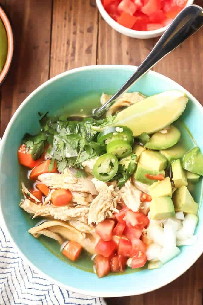 How To Make Chicken Caldo de Pollo - Bowl of Caldo de Pollo Soup