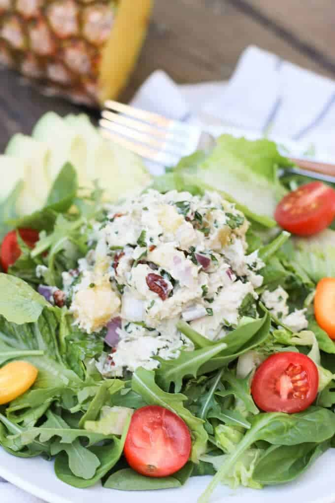 Pineapple Cilantro Chicken Salad