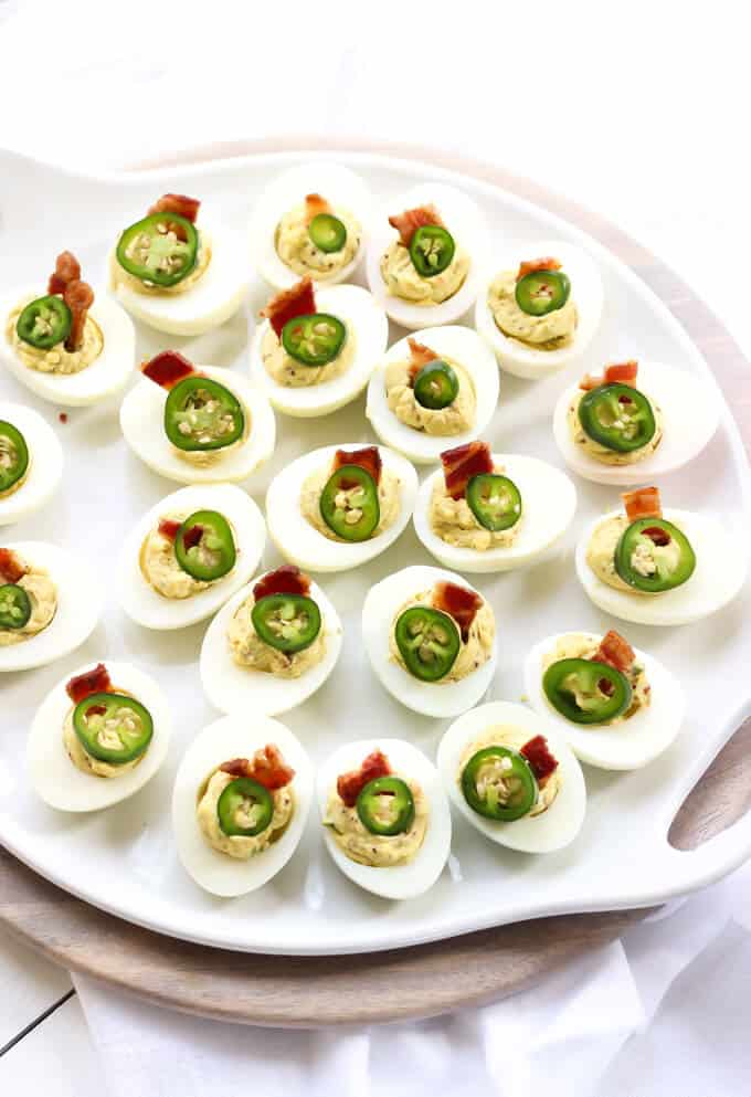 Jalapeno Bacon Deviled Eggs