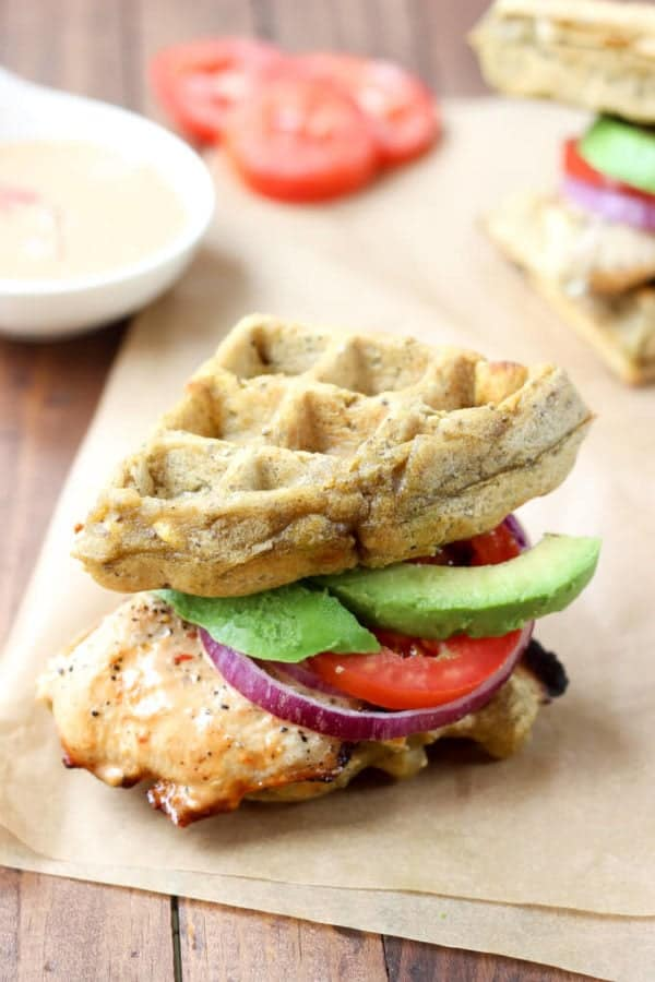 Chipotle Chicken Waffle Sliders - The EASIEST Paleo waffle you'll ever make!