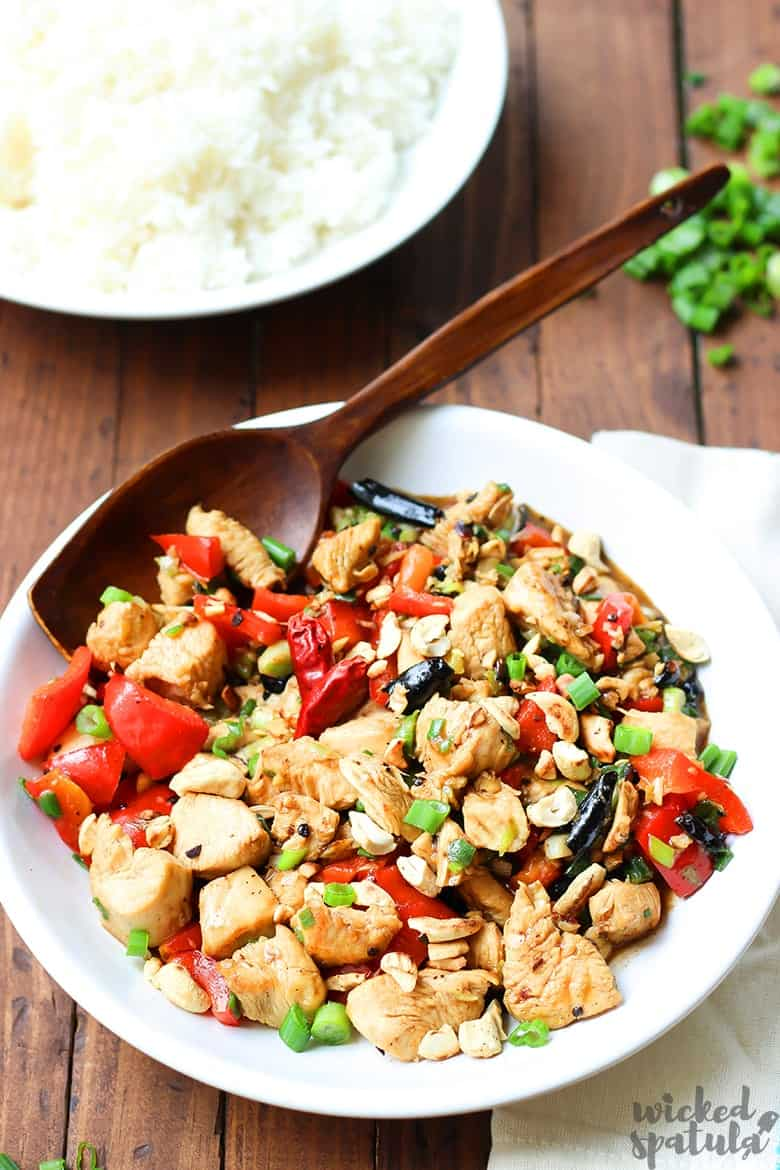 kung pao chicken on plate
