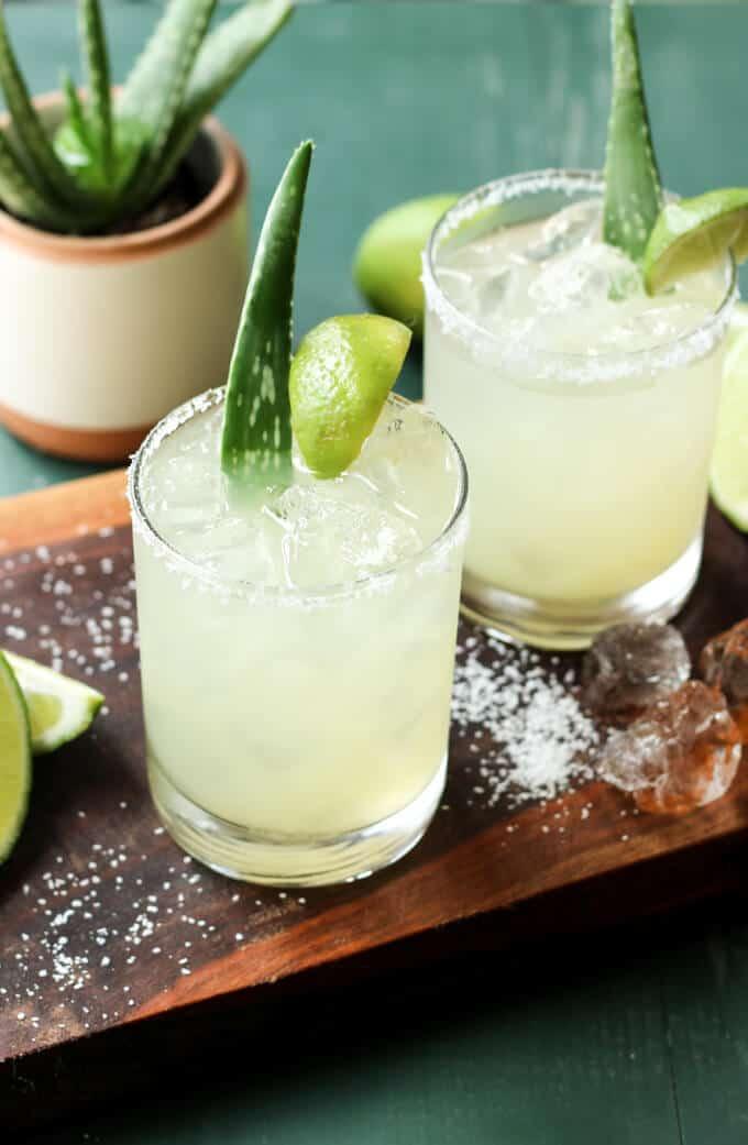 Aloe Vera Margaritas   wickedspatula.com