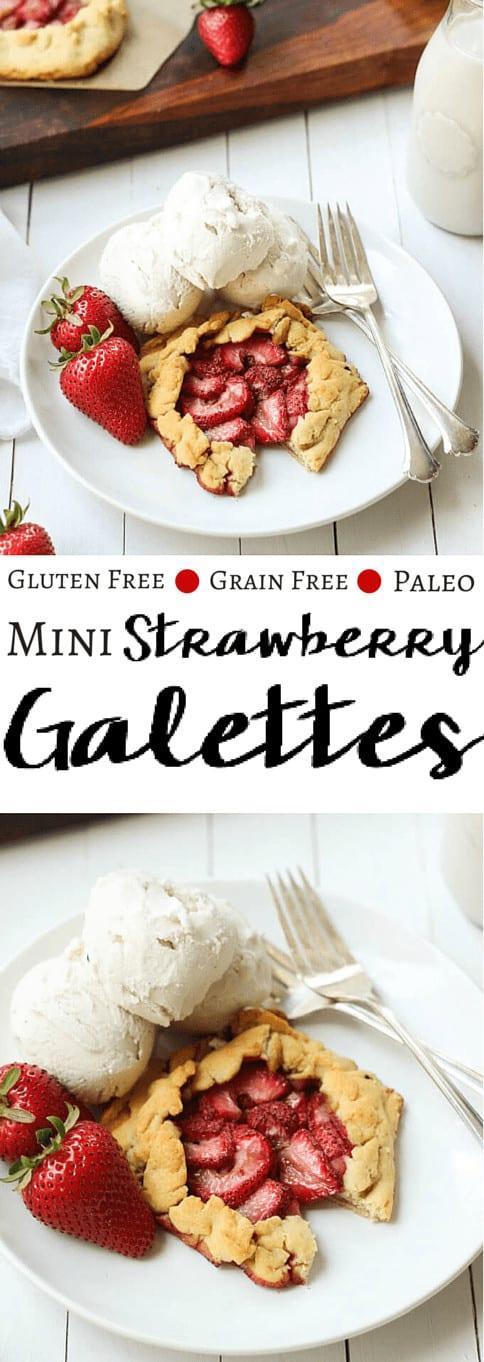 Mini Paleo Strawberry Galettes - pinterest image