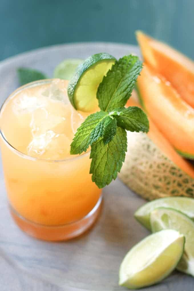 Cantaloupe Margaritas | wickedspatula.com