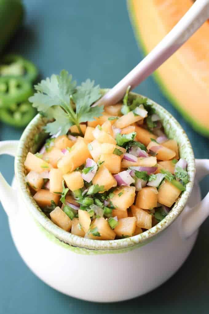 Cantaloupe salsa | wickedspatula.com