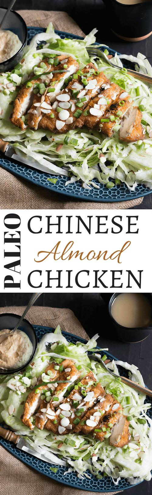 Paleo Chinese Almond Chicken | Crispy tempura chicken covered in almond gravy - wickedspatula.com