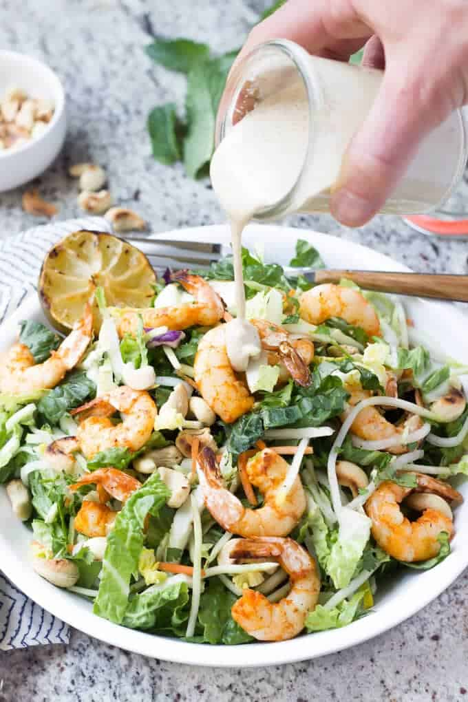 thai shrimp salad garlicky shrimp paleo caesar salad with cajun shrimp ...
