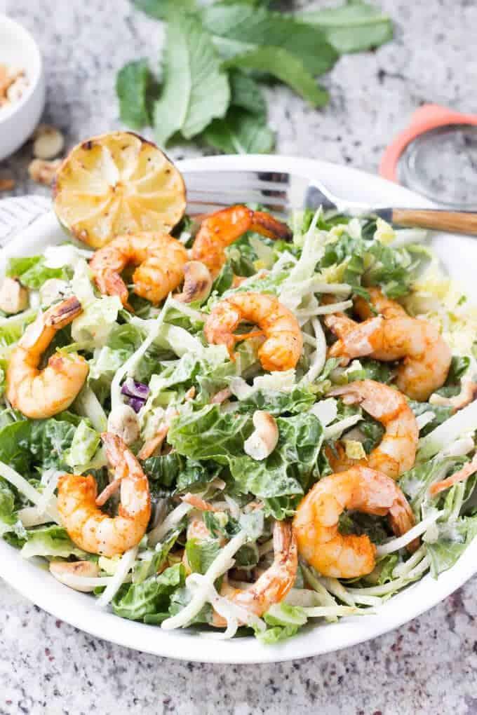 Thai Shrimp Salad - Wicked Spatula