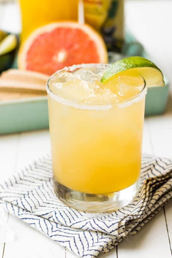 Grapefruit Pineapple Paloma | wickedspatula.com