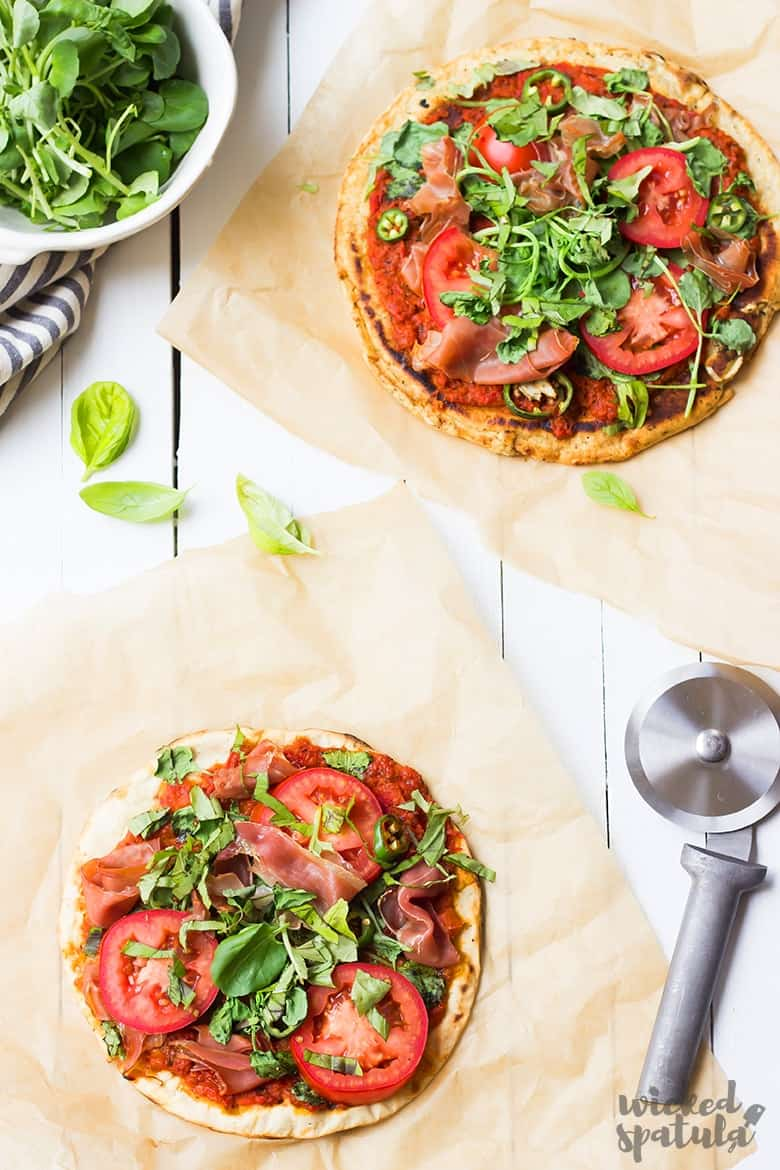 Paleo pizza crusts - grill or oven