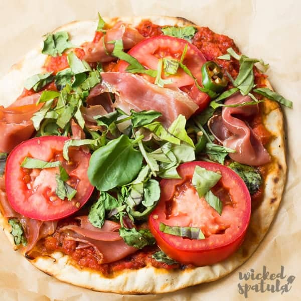 Paleo pizza crust close up