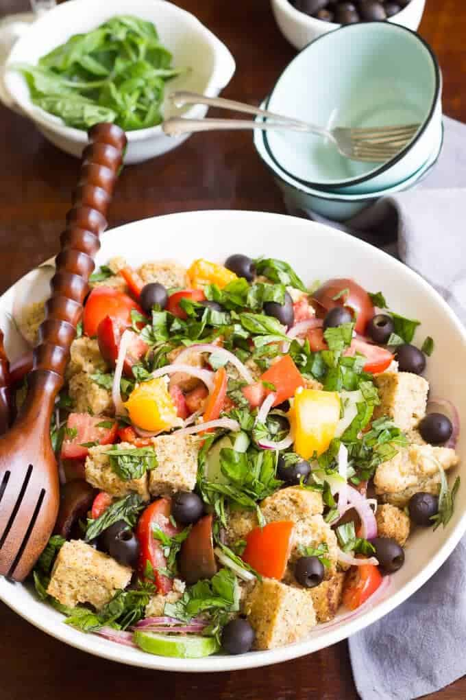 Paleo Panzanella Salad in a large bowl