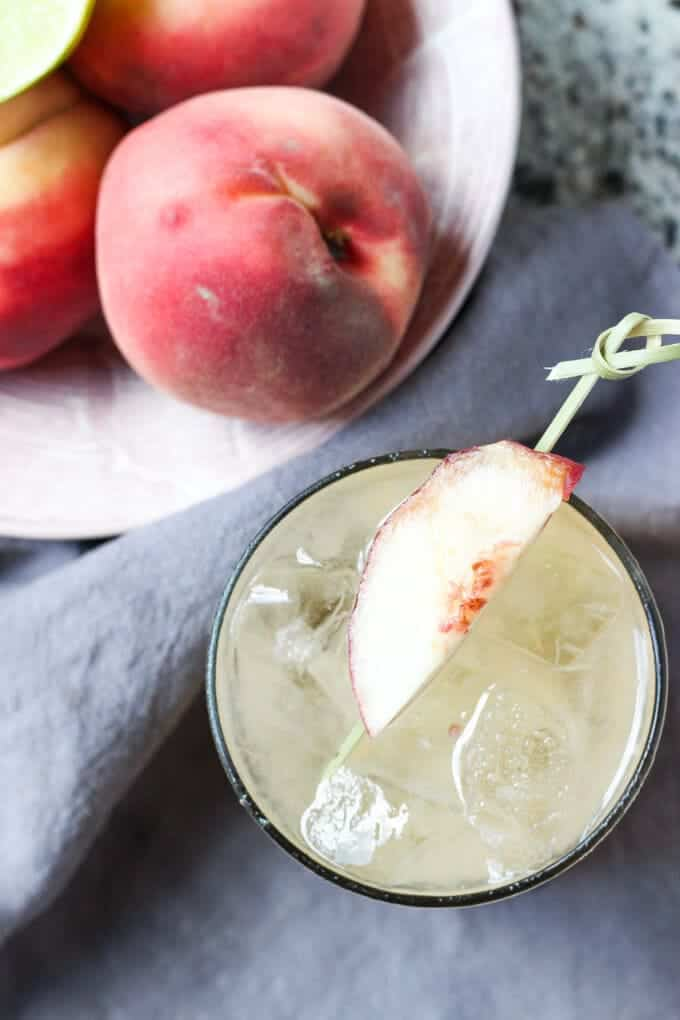 Sweeten your summer with these Peach Jam Margaritas! | wickedspatula.com