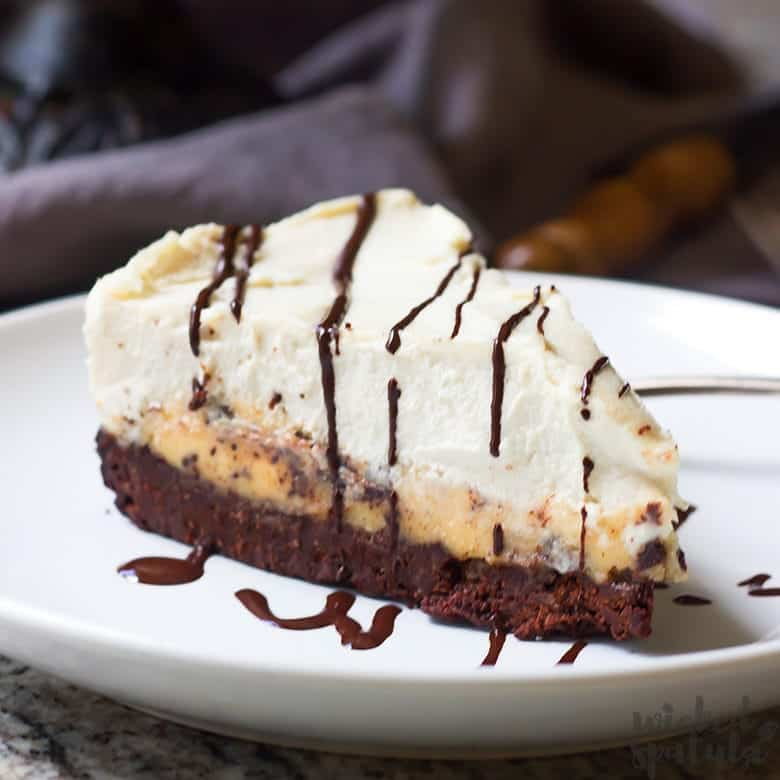 paleo cheesecake slice on a plate