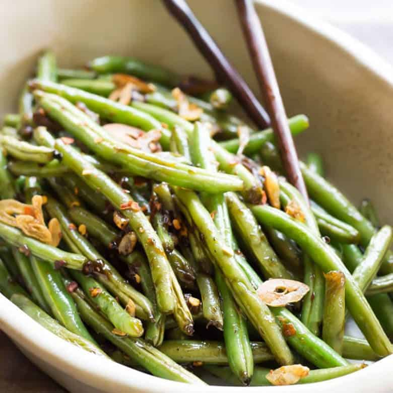 0877479b3 Easy Spicy Asian Green Beans Recipe | Wicked Spatula