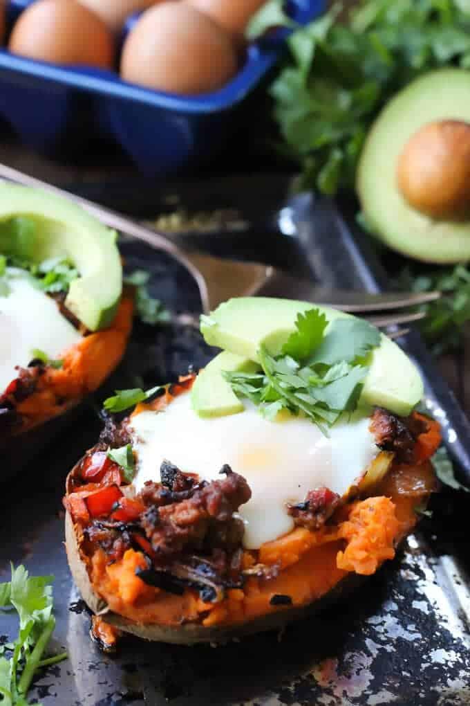 Mexican Sweet Potato Egg Boats