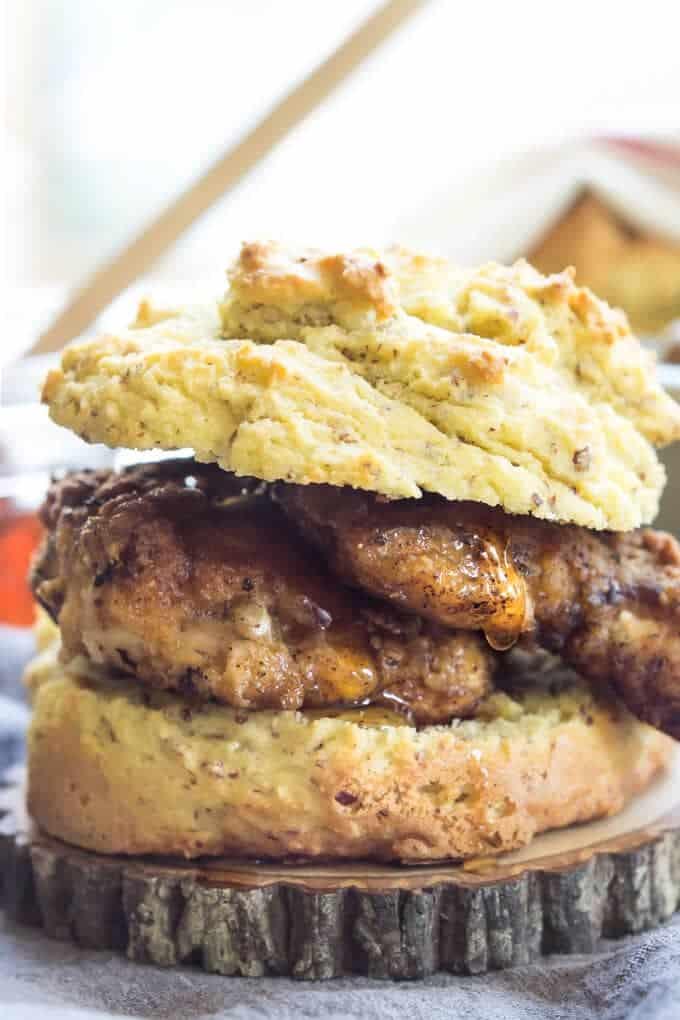 Paleo Fried Chicken Biscuits | wickedspatula.com