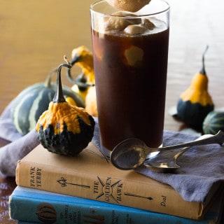 Paleo Pumpkin Ice Cream Coffee Float - This dairy free paleo pumpkin ice cream is perfect for early fall days!!   wickedspatula.com