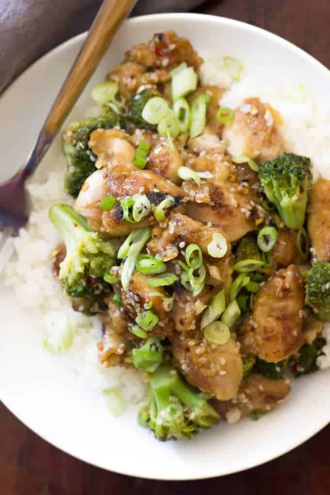 Paleo Sesame Chicken - Wicked Spatula