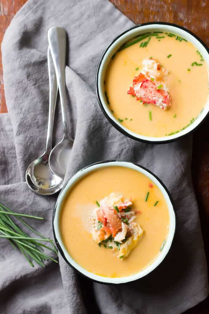 Dairy Free Alaska King Crab Bisque - 20 minutes from start to finish! | wickedspatula.com