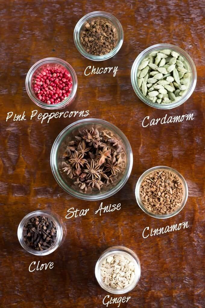 DIY Autumn Herbal Tea Blend ingredients