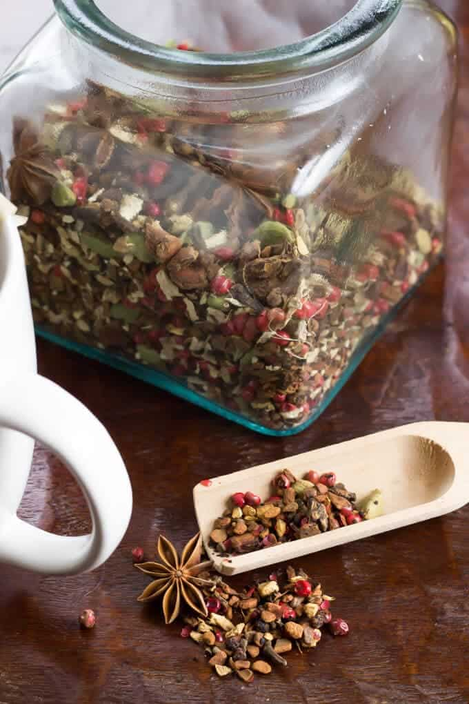 DIY Autumn Herbal Tea Blend in a jar