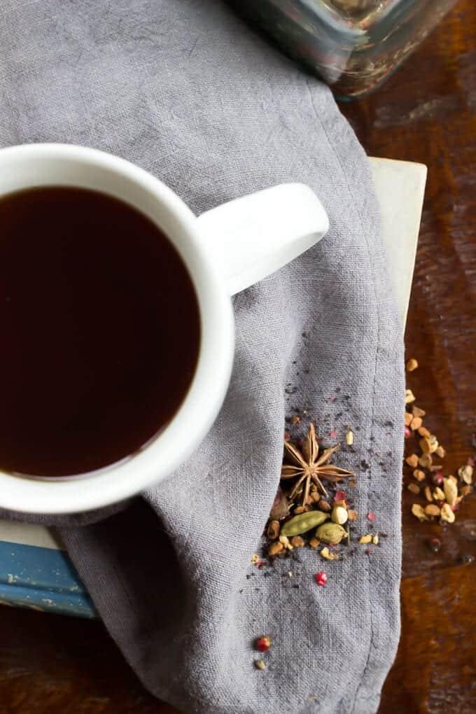 DIY Autumn Herbal Tea Blend ready