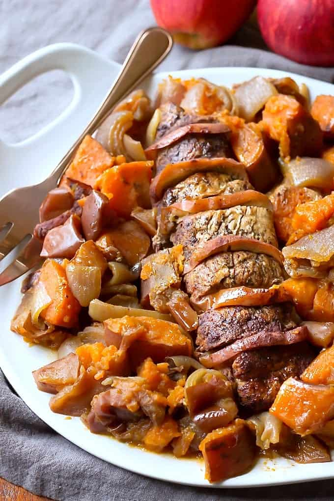 Slow Cooker Crock Pot Pork Tenderloin Recipe With Apples
