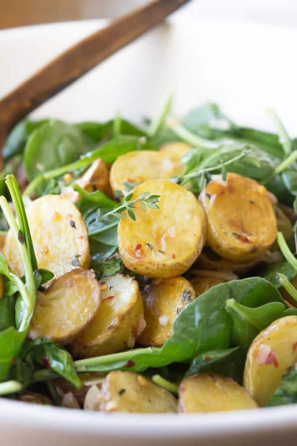 Brown Butter Apple Cider Potato Salad | A great Paleo side dish! | wickedspatula.com