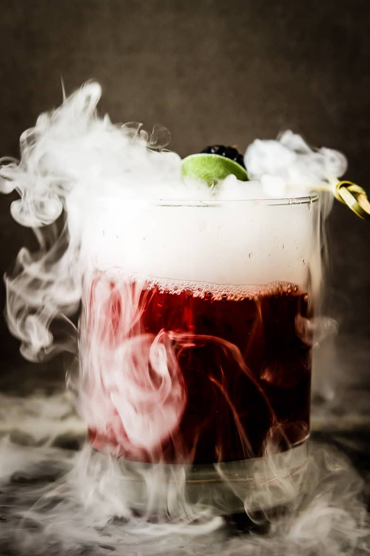 TheBlondeVenture.com - Smoking Blackberry Sage Margarita