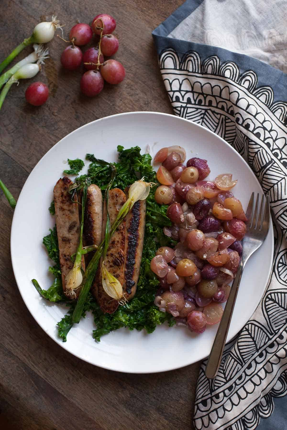 Chicken And Apple Sausage With Kale