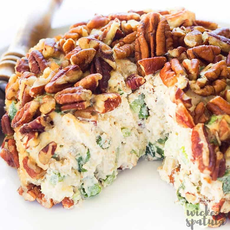 vegan cheese ball on a plate