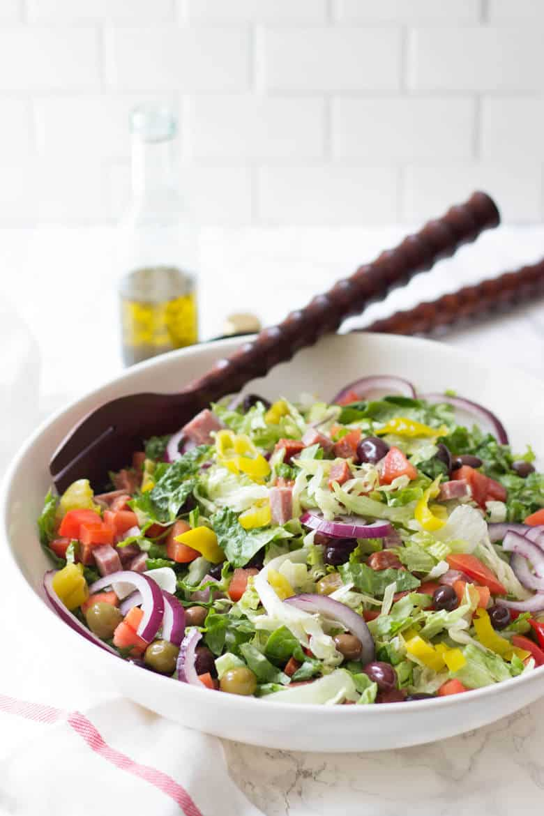 Italian sub salad a low carb submarine sadwich alternative italian sub salad this salad is just like your favorite sub sandwich but totally healthy forumfinder Gallery